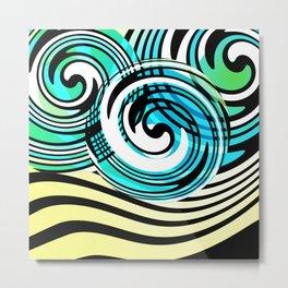 "Rotating in Circles Series 05 ""Ocean Waves"" Metal Print"