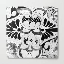 Black and White Talavera One Metal Print