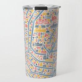 Amsterdam City Map Poster Travel Mug
