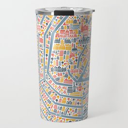 Amsterdam City Map Poster Travel Mug