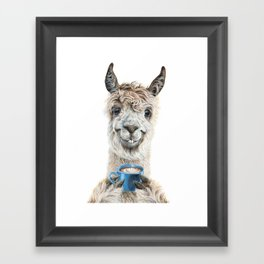 Llama Latte Framed Art Print