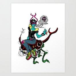 Bug Rider Art Print