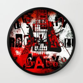 it's only rock n roll Baby Wall Clock