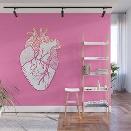 Designer Heart Pink Wall Mural