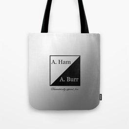 A. Ham / A. Burr Tote Bag