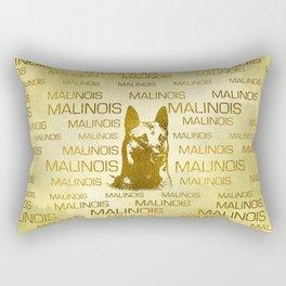 Golden Belgian Malinois - Mechelaar  - Maligator Rectangular Pillow