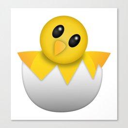 Hatching baby chick Emoji Canvas Print