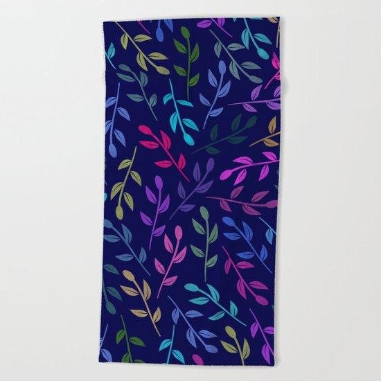 Colorful Leaves VI Beach Towel