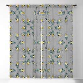 Yellow Agate Beetles Pattern Blackout Curtain