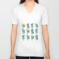 hats V-neck T-shirts featuring hats 1 by Mrwilliam Draw