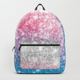 Galaxy Sparkle Stars Cotton Candy Backpack