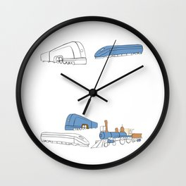 Trains Wall Clock