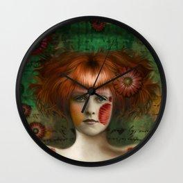 """Daisy Woman (Detail)"" Wall Clock"