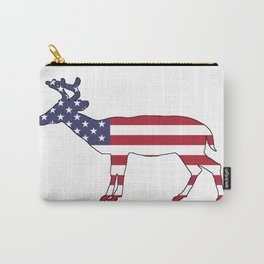 """Deer """"American Flag"""" Carry-All Pouch"""