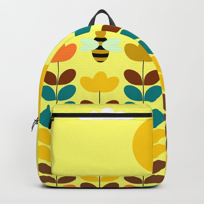 Flowers with bees Backpack