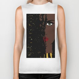Iolana Black Queen Fashion art Biker Tank