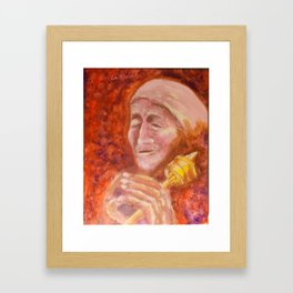 prayer wheel Framed Art Print