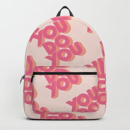 You Do You Block Type Pink Backpack