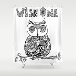 Wise Owl Shower Curtain