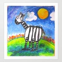 Zebra Z Art Print