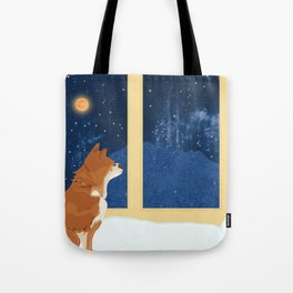 Volcano View Tote Bag