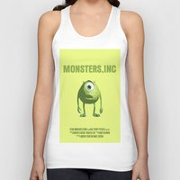 monsters inc Tank Tops featuring Monsters, Inc by FunnyFaceArt