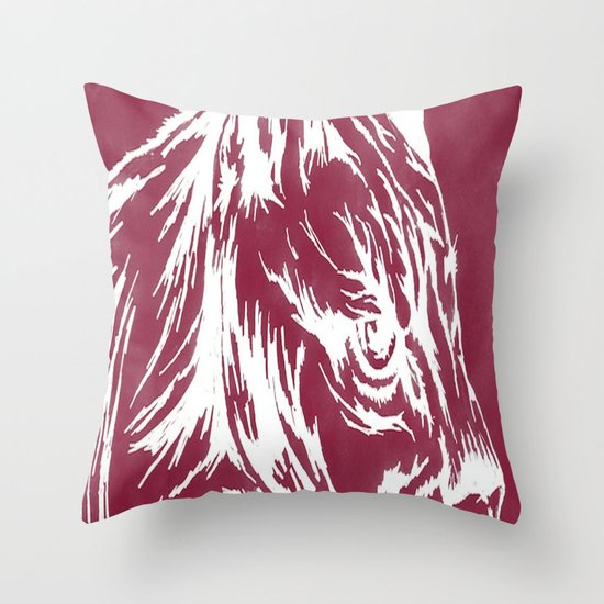 red cougar Throw Pillow