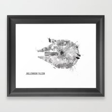 Star Wars Vehicle Millennium Falcon Framed Art Print