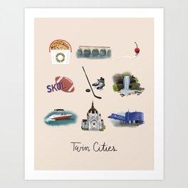 Twin Cities Art Print