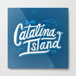 Catalina Island Blue Metal Print
