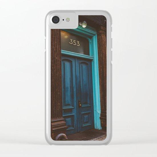 Brooklyn Door Clear iPhone Case
