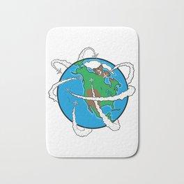 Jets Circling the Globe Bath Mat
