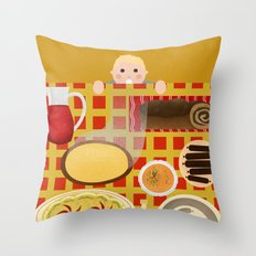 Screw Santa, there's food on the table! Throw Pillow