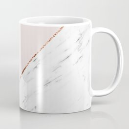 Peony blush geometric marble Coffee Mug