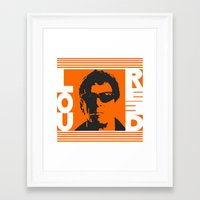 lou reed Framed Art Prints featuring Lou Reed by Silvio Ledbetter