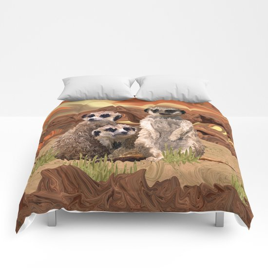 Three Meerly Meerkats  Comforters