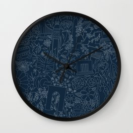 DC NYC London - Navy Wall Clock