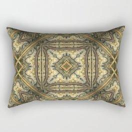 Victorian Art Deco Medieval Pattern golden brown SB30 Rectangular Pillow