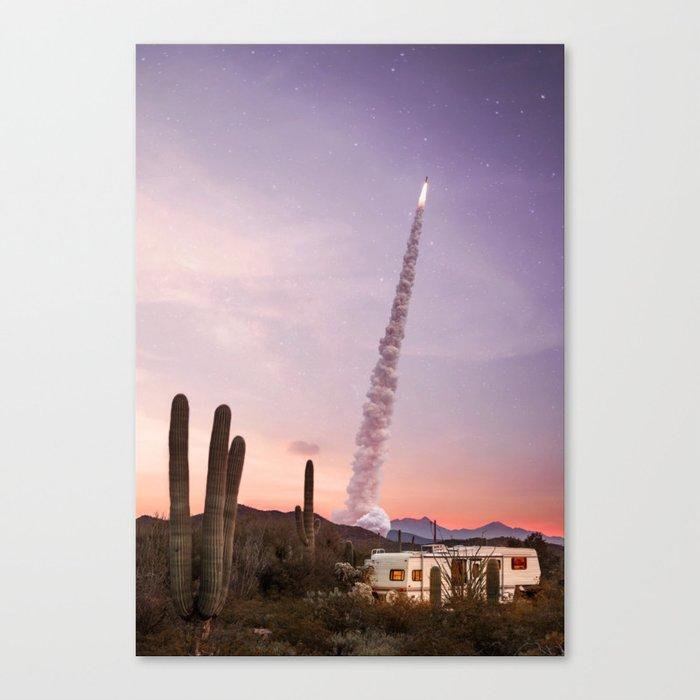 Rocket Desert Leinwanddruck