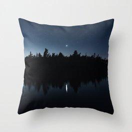 Venusian Lake Throw Pillow