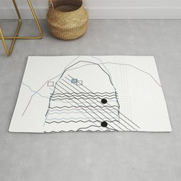 Mountains by the Ocean Rug