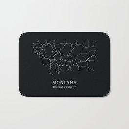 Montana State Road Map Bath Mat