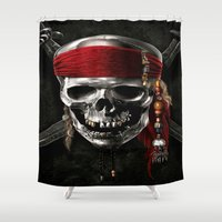pirate Shower Curtains featuring PIRATE by Acus