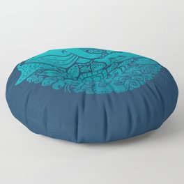 Aquatic Spectrum Floor Pillow