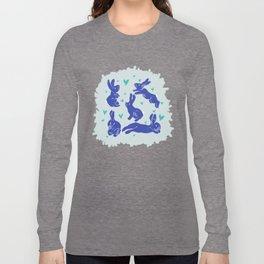 Bunny love - Blueberry edition Long Sleeve T-shirt
