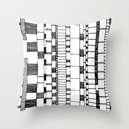 Vintage Lines  Throw Pillow