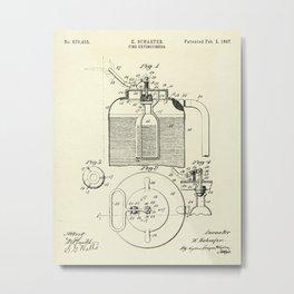 Fire Extinguisher-1897 Metal Print