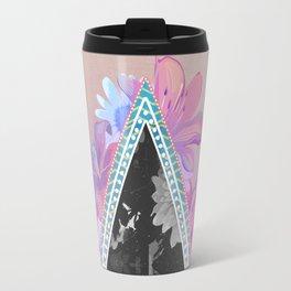 floral triangle Travel Mug