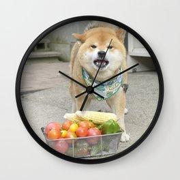 Vegetable man Wall Clock