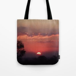 Sweet Pink Orange Sunset Tote Bag